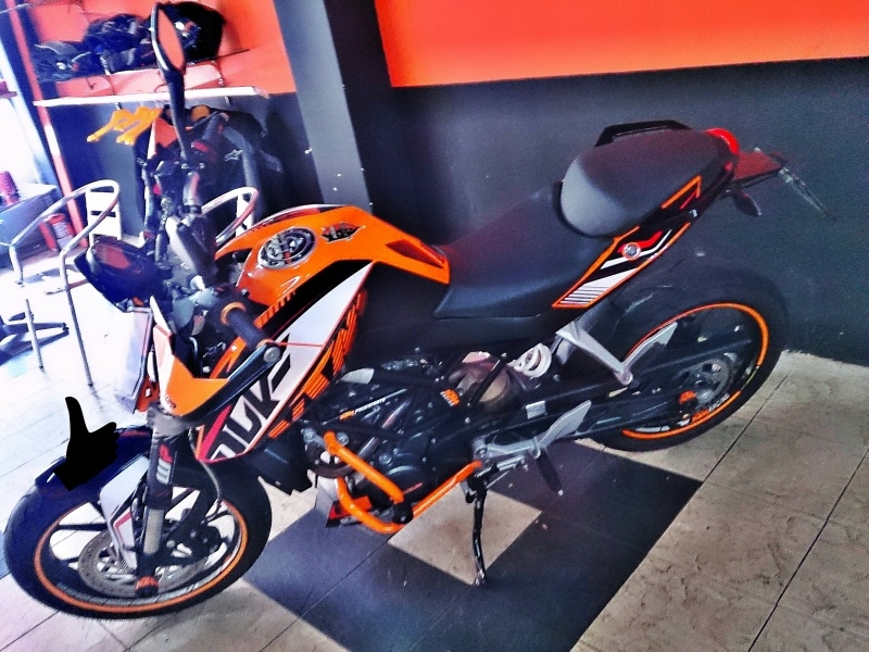 ktm duke 200 with powerparts non-abs - trademysuperbike.my